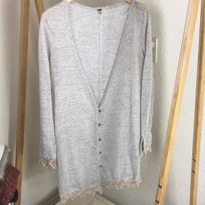Free People Button Up cardigan duster